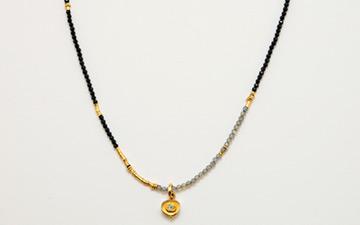 Spinellkette , Anhänger mit Diamant_1